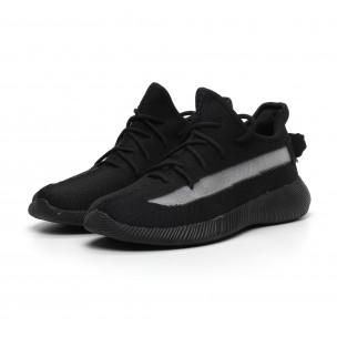 Ανδρικά διχτυωτά μαύρα αθλητικά παπούτσια ελαφρύ μοντέλο 2