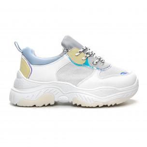 Γυναικεία λευκά αθλητικά παπούτσια Dame Rose