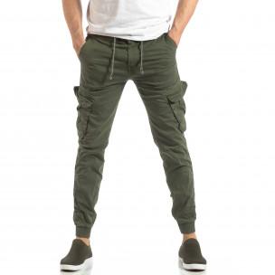 Ανδρικό military πράσινο παντελόνι Cargo Jogger  2