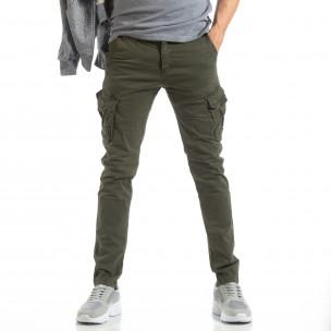 Ανδρικό πράσινο παντελόνι cargo