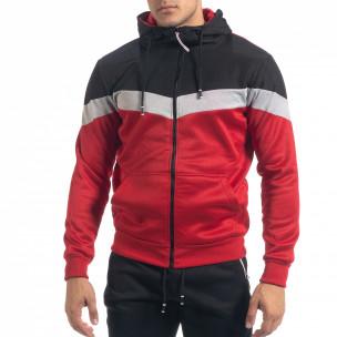 Ανδρικό μαύρο-κόκκινο αθλητικό σετ Biker 2