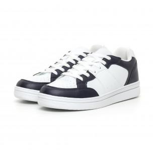 Ανδρικά skate sneakers σε λευκό και μπλέ  2