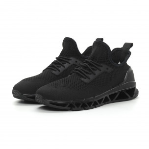 Ανδρικά μαύρα αθλητικά παπούτσια Knife ελαφρύ μοντέλο  2
