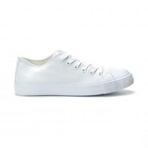 Ανδρικά λευκά sneakers κλασικό μοντέλο