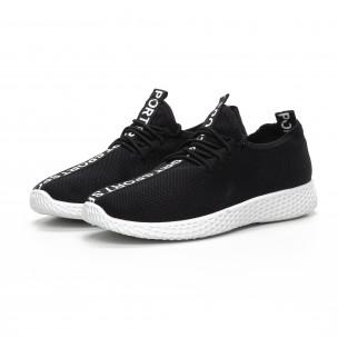 Ανδρικά μαύρα υφασμάτινα αθλητικά παπούτσια   2