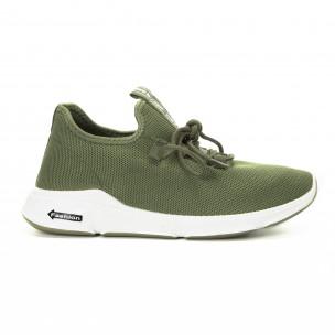 Πλεκτά ανδρικά πράσινα αθλητικά παπούτσια