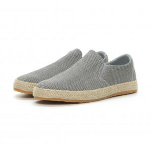 Ανδρικές γκρι εσπαντρίγιες τύπου sneakers  2