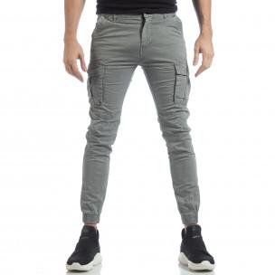 Ανδρικό γκρι cargo Jogger παντελόνι  2