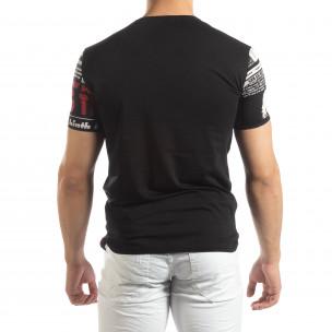 Ανδρική μαύρη κοντομάνικη μπλούζα Exclusive News 2