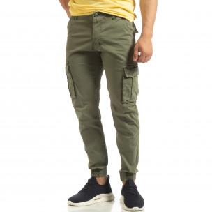 Ανδρικό πράσινο παντελόνι Cargo Jogger Furia Rossa