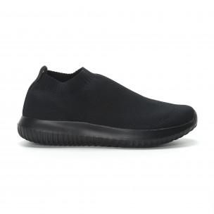 Ανδρικά χαμηλά μαύρα αθλητικά παπούτσια κάλτσα All black