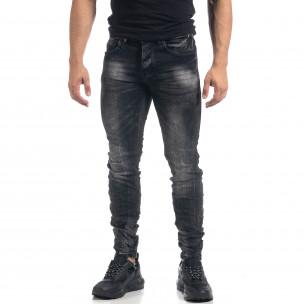 Ανδρικό μαύρο τζιν Washed Slim fit
