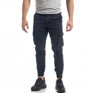 Ανδρικό γαλάζιο παντελόνι cargo J.Store
