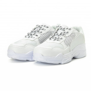 Ανδρικά λευκά αθλητικά παπούτσια All white  2