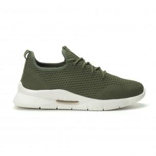 Ανδρικά πράσινα αθλητικά παπούτσια Hole design ελαφρύ μοντέλο