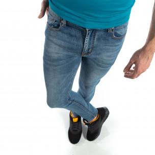 Ανδρικό μπλε ελαστικό τζιν Slim fit  2