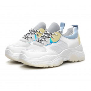 Γυναικεία Chunky αθλητικά παπούτσια σε απαλά χρώματα  2
