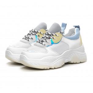 Γυναικεία λευκά αθλητικά παπούτσια Dame Rose 2