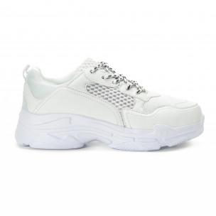 Ανδρικά λευκά αθλητικά παπούτσια All white