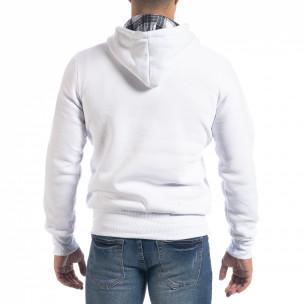 Ανδρικό λευκό φούτερ hoodie με πριντ Originals 2