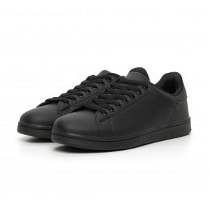 Ανδρικά μαύρα ματ sneakers Basic 2
