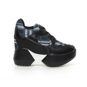 Γυναικεία καρέ αθλητικά παπούτσια με κρυφή πλατφόρμα