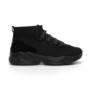 Ανδρικά αθλητικά παπούτσια τύπου κάλτσα All Black