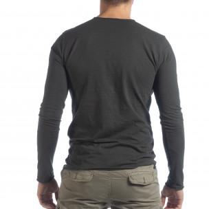 Ανδρική γκρι μπλούζα V-neck  2