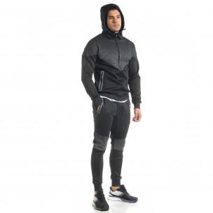 Ανδρικό μαύρο αθλητική φόρμα Furia Rossa 2