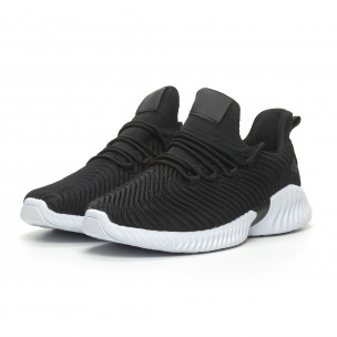 Ανδρικά μαύρα αθλητικά παπούτσια Wave ελαφρύ μοντέλο 2