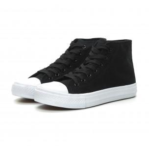 Γυναικεία Basic μαύρα ψηλά sneakers   2