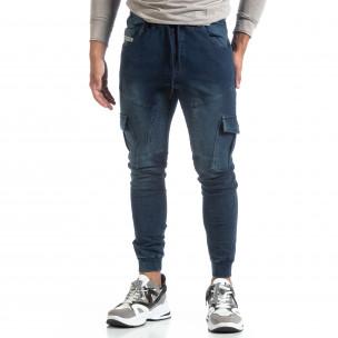 Ανδρική μπλε φόρμα Ανδρική τύπου Cargo Jeans 2