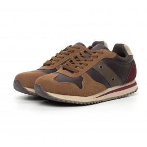 Ανδρικά καφέ αθλητικά παπούτσια  2