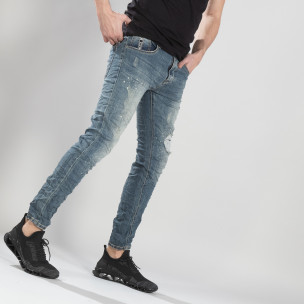 Ανδρικό γαλάζιο τζιν με τσαλακωμένο εφέ Always Jeans