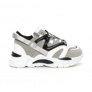 Γυναικεία γκρι Chunky αθλητικά παπούτσια