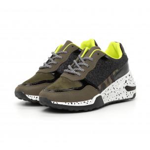 Γυναικεία πράσινα αθλητικά παπούτσια με λεπτομέρειες Mix 2