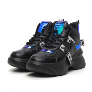 Γυναικεία ψηλά αθλητικά παπούτσια με νέον λεπτομέρειες Fashion&Bella 2