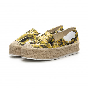 Γυναικείες κίτρινες eσπαντρίγιες Sweet Shoes 2