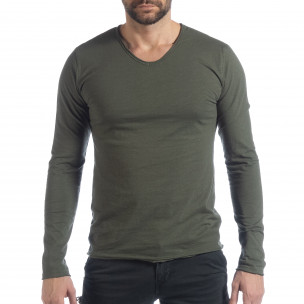 Ανδρική χακί μπλούζα V-neck