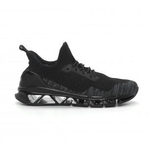 Ανδρικά μαύρα αθλητικά παπούτσια Reeca Reeca