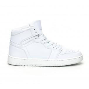 Ανδρικά ψηλά λευκά sneakers