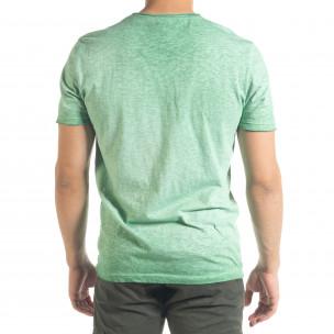 Ανδρική πράσινη κοντομάνικη μπλούζα Ficko  2