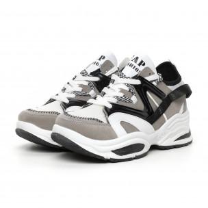 Ανδρικά Chunky  γκρι αθλητικά παπούτσια  2