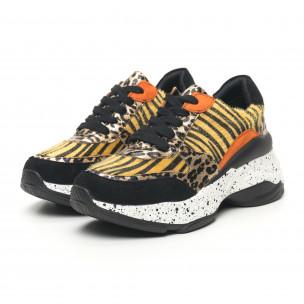 Γυναικεία λεοπαρ αθλητικά παπούτσια Patchwork design  2