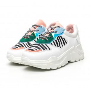 Γυναικεία πολύχρωμα Chunky αθλητικά παπούτσια με ζέβρα μοτίβο 2