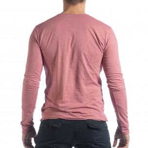 Ανδρική ροζ μπλούζα V-neck 2