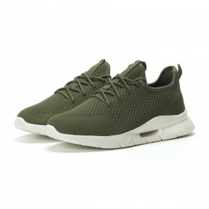 Ανδρικά πράσινα αθλητικά παπούτσια Hole design ελαφρύ μοντέλο  2