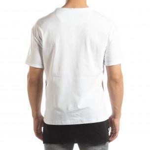 Ανδρική λευκή κοντομάνικη μπλούζα Darth Vader  2