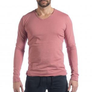 Ανδρική ροζ μπλούζα V-neck