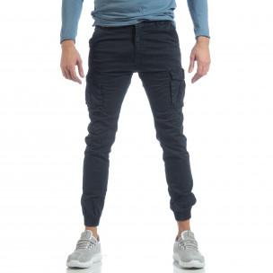 Ανδρικό μπλε cargo Jogger παντελόνι